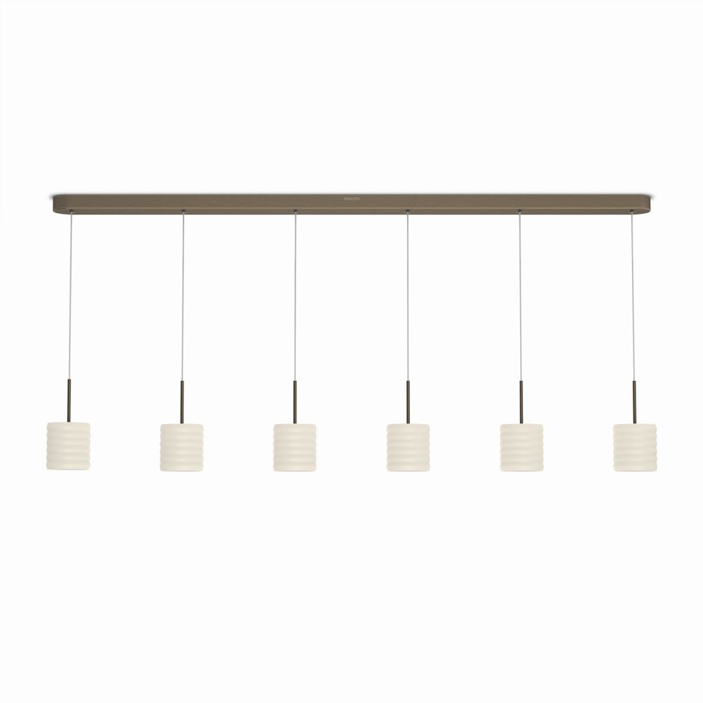 LED závěsné svítidlo - lustr Philips ORTEGA 37308/06/16 - bronz