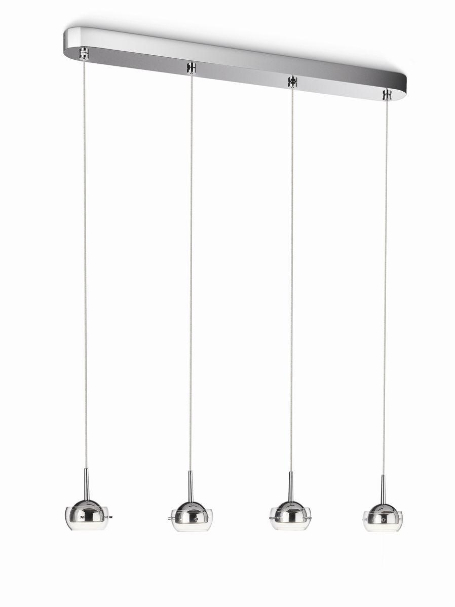 LED závěsné svítidlo - lustr Philips 53225/11/16 - lesklý chrom