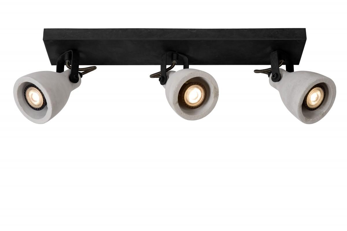 Lucide 05910/15/30 LED stropní bodové svítidlo Concri 3x5W|GU10|3000K