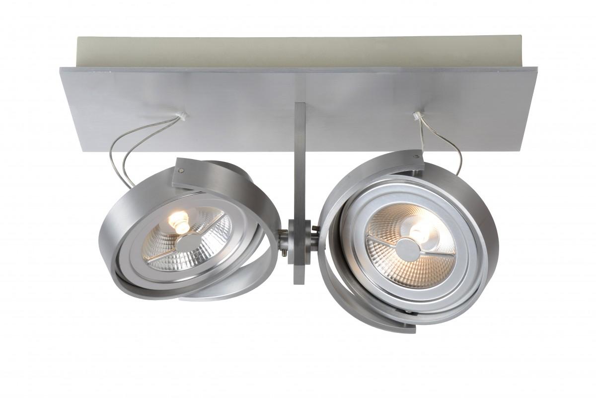 LED stropní svítidlo bodové svítidlo Lucide Spectrum 09988/24/12 2x12W G53 - industriální bodovka