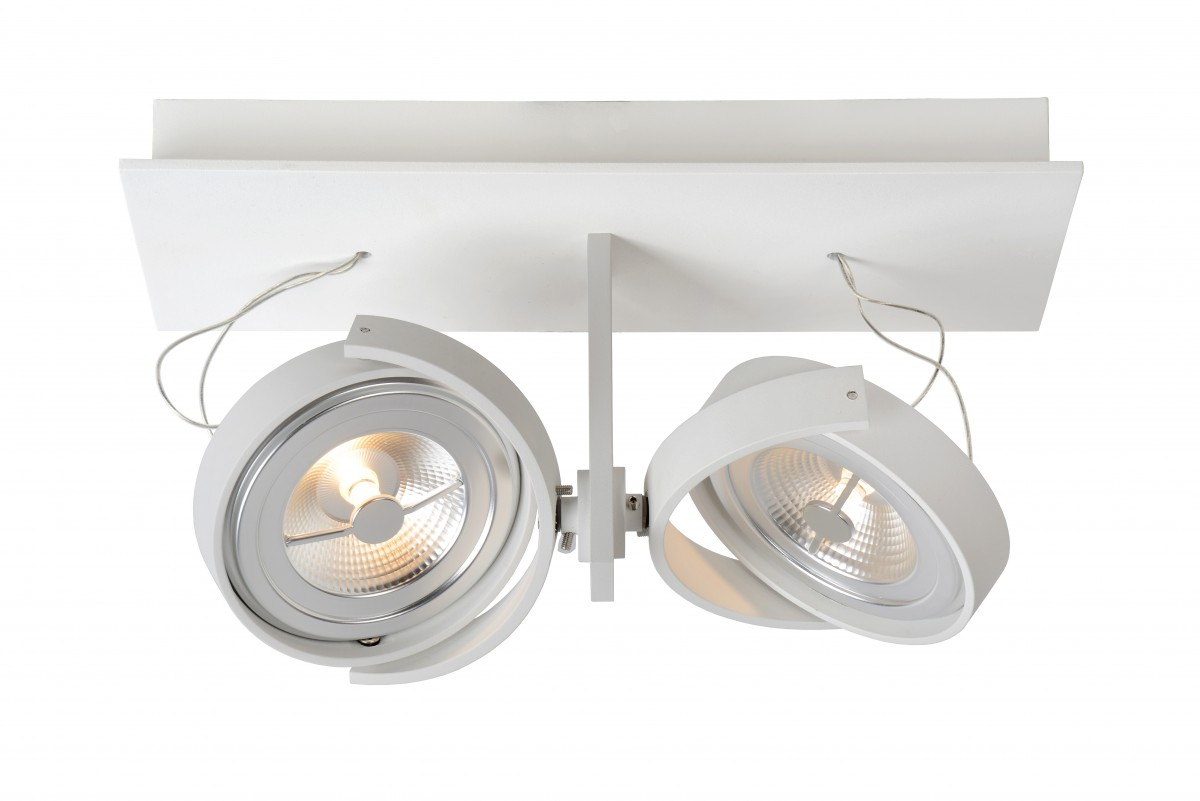 LED stropní svítidlo bodové svítidlo Lucide Spectrum 09988/24/31 2x12W G53 - industriální bodovka