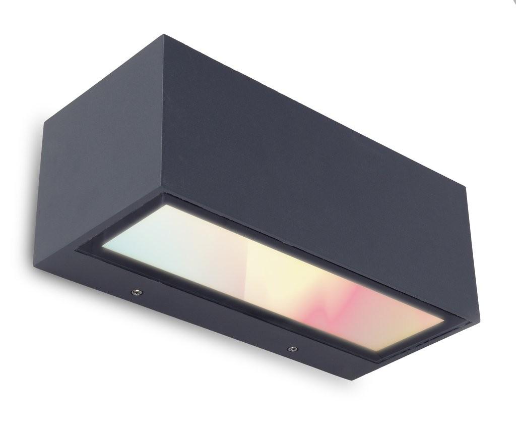 Lutec 5189111118 LED venkovní nástěnná lampa Gemini 1x18W | RGB | 2700-6500K | IP54 - inteligentní,