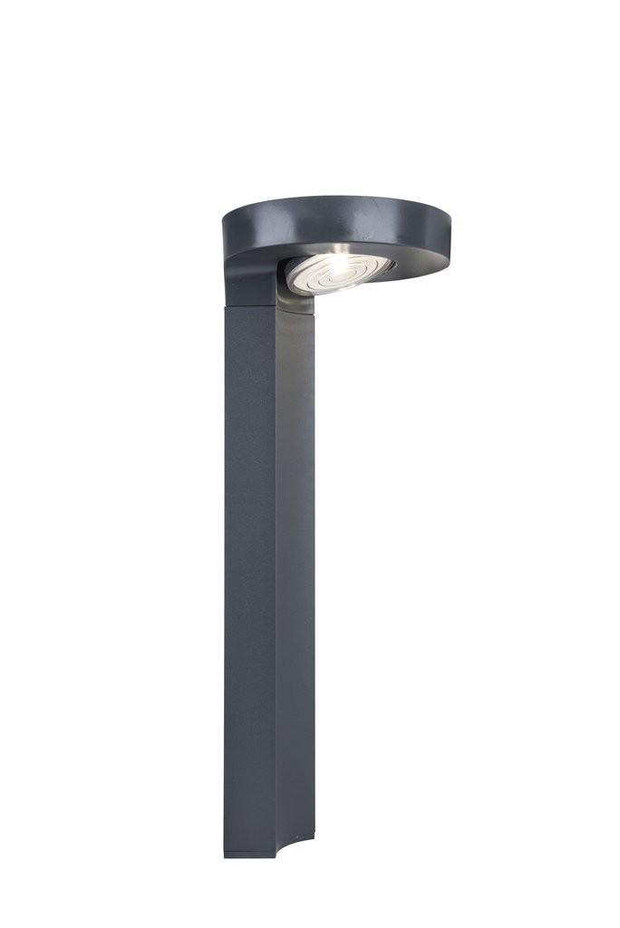 Lutec 6906703335 LED venkovní stojací solární lampa Diso 1x2W | 4000K | IP44 - s nastavitelnou hlavou