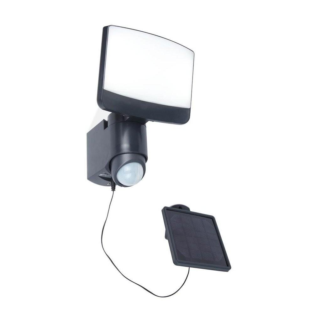 Lutec 6925601345 LED venkovní solární nástěnná lampa se senzorem Sunshine 1x8W | 5000K | IP44 - včetně nabíjecího panelu LUTEC 6925601345