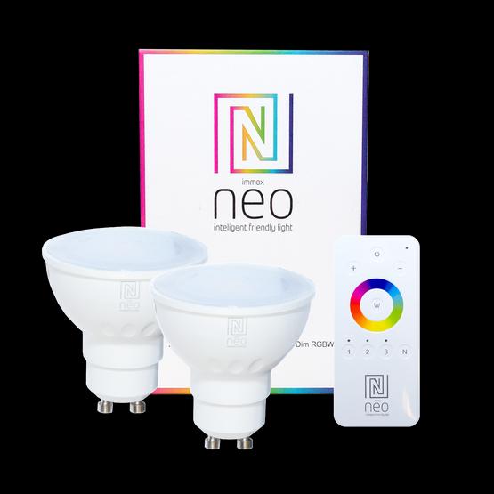 Immax NEO 07006BD inteligentní sada - ovladač + 2x LED žárovky 1x3,5W GU10 2700K RGB