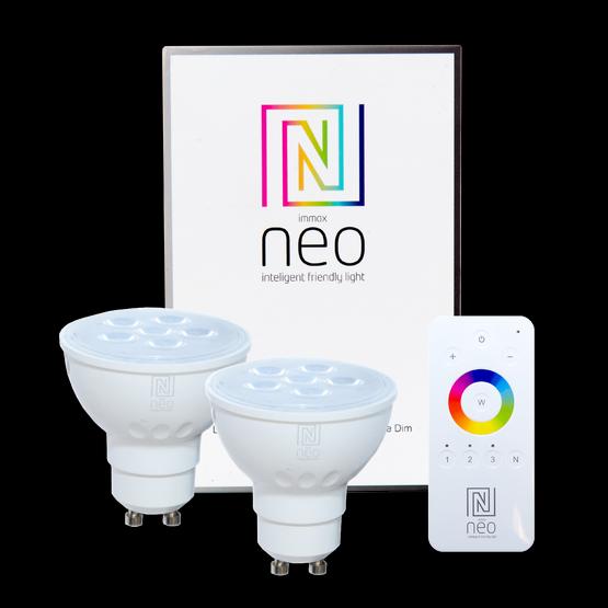 Immax NEO 07003BD inteligentní sada - ovladač + 2x LED žárovky 1x5W|GU10|2700K