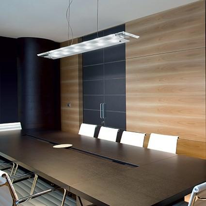 LED závěsné svítidlo Ideal lux Office SP6 007465 6x3W -leptané sklo