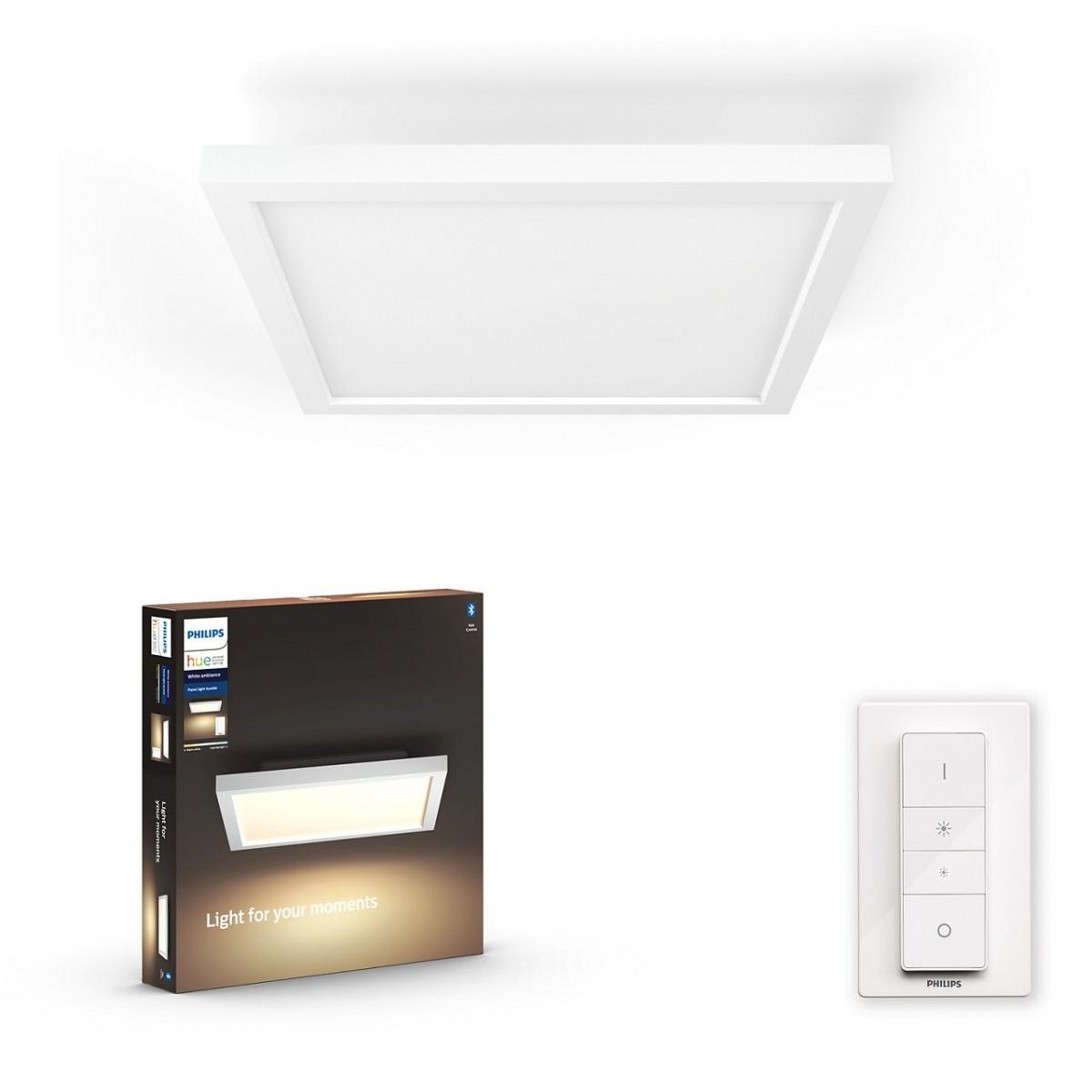 Philips Hue 32161/31/P6 LED stropní panel Aurelle 1x24,5W   2200-6500K - Bluetooth, s dálkovým ovladačem