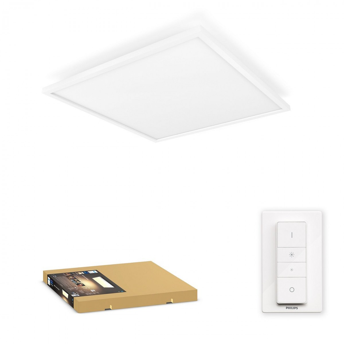 Philips Hue 32162/31/P6 LED stropní panel Aurelle 1x46,5W   2200-6500K - Bluetooth, s dálkovým ovladačem