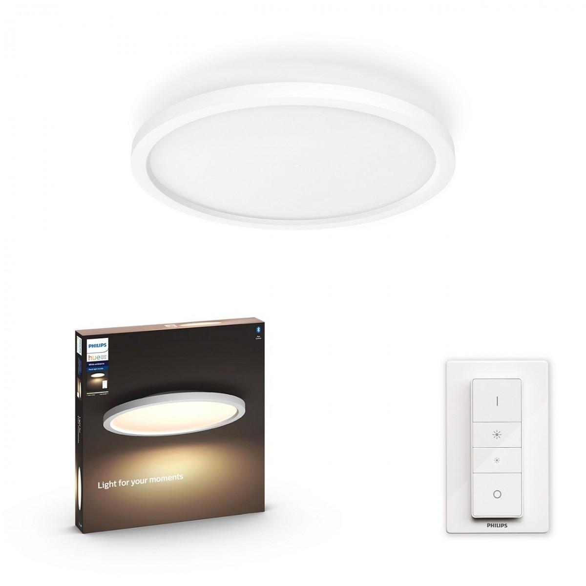 Philips Hue 32164/31/P6 LED stropní panel Aurelle 1x24,5W   2200-6500K - Bluetooth, s dálkovým ovladačem