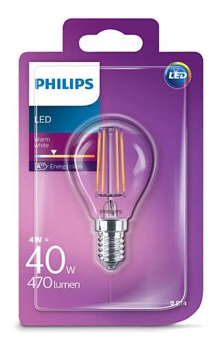 Philips klasik Žárovka LED , 4W, E14, teplá bílá