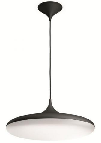 LED závěsné svítidlo svítidlo (lustr) Fair HUE - černá s dálkovým ovladačem - Philips 40761/30/P7