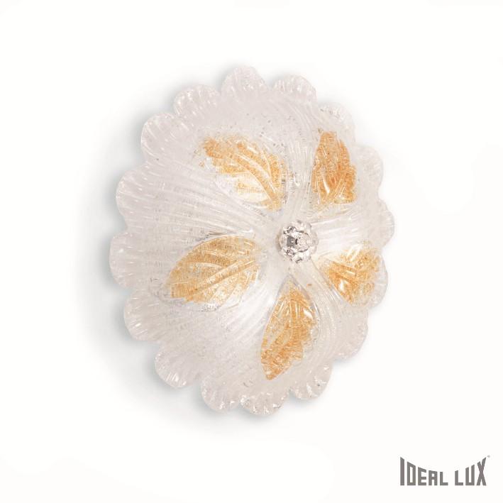přisazené nástěnné a stropní svítidlo Ideal lux Petalo PL3 014661 3x60W E27 - bílá/jantar