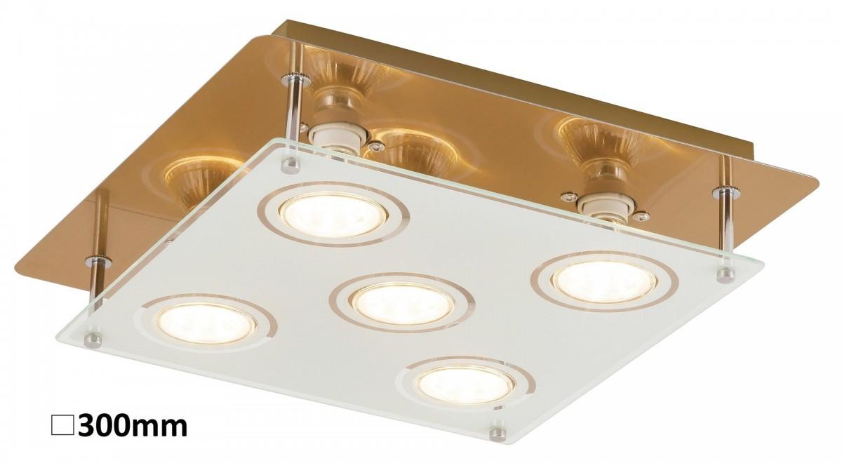 RABALUX 2253 Naomi stropní svítidlo LED GU10 5x5W bronz