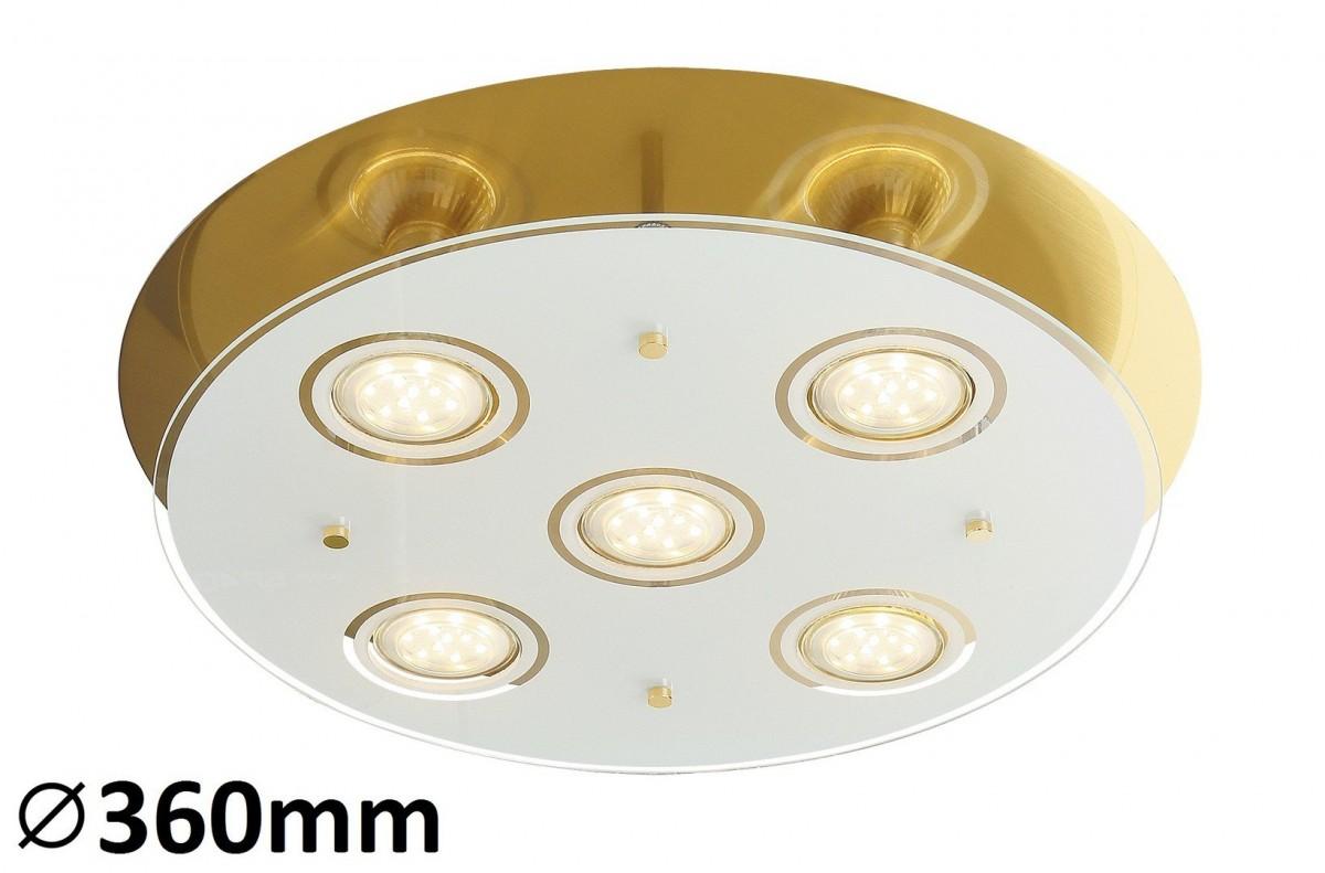 RABALUX 2256 Naomi,stropní svítidlo. LED GU10 5x5W bronz