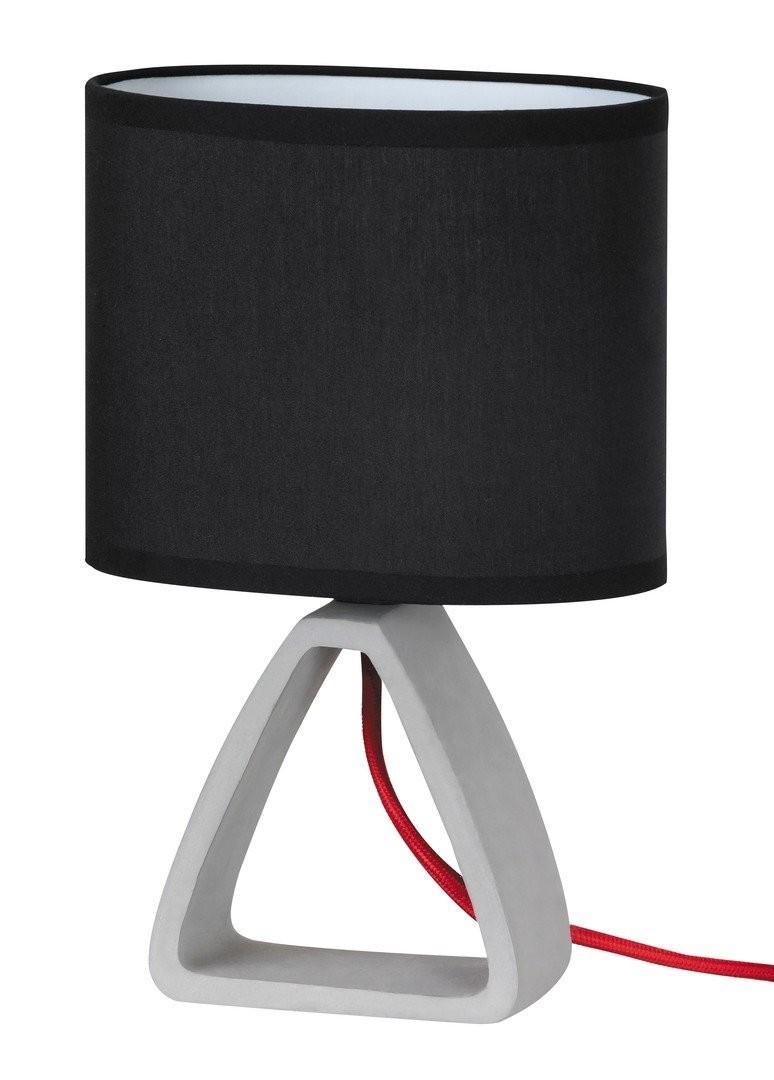 RABALUX 4338 Henry textilní lampička E14 1x40W sádro/černá
