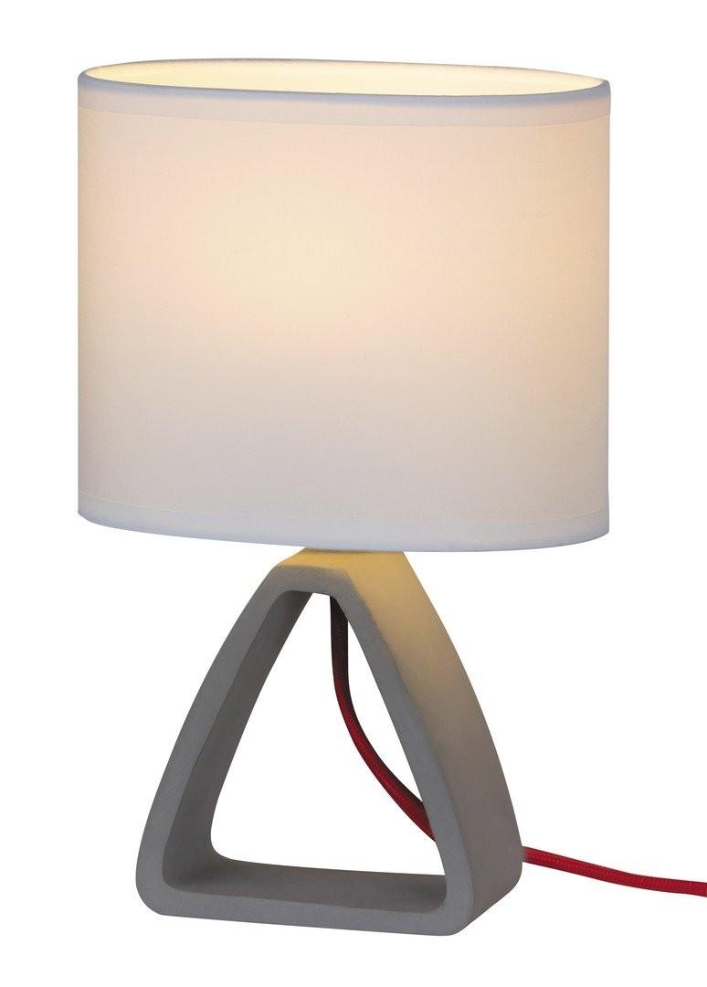 RABALUX 4339 Henry textilní lampička E14 1x40W sádro/bílá