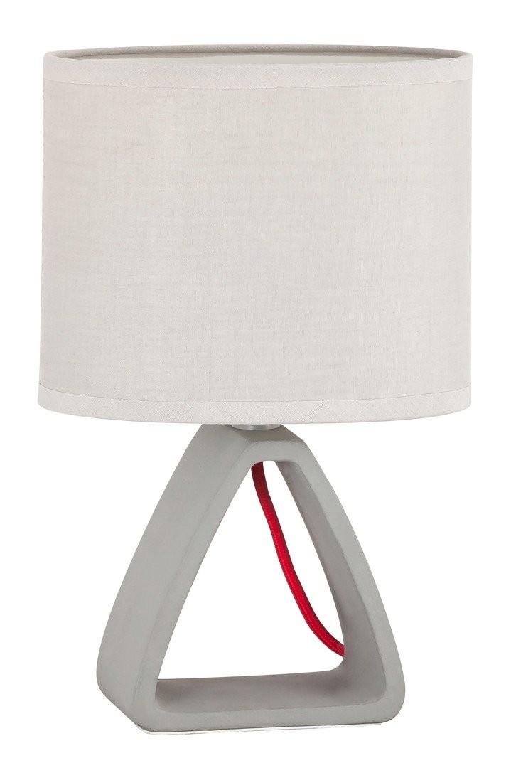 RABALUX 4340 Henry textilní lampička E14 1x40W sádro/šedé