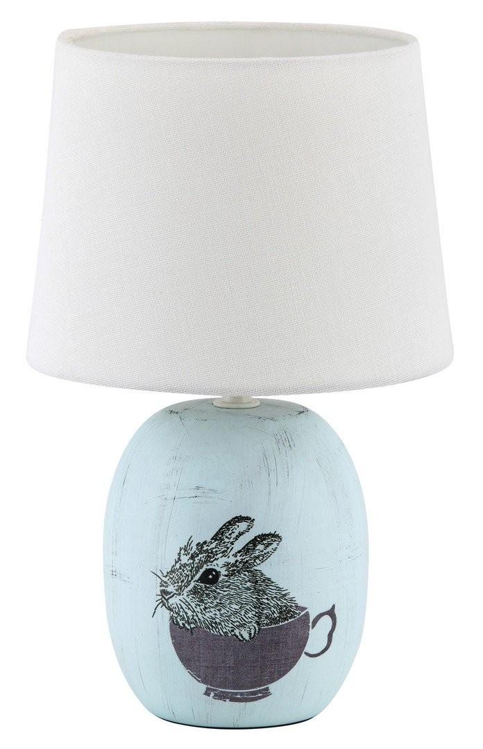 RABALUX 4603 Dorka textilní lampička E14 1x40W modrá