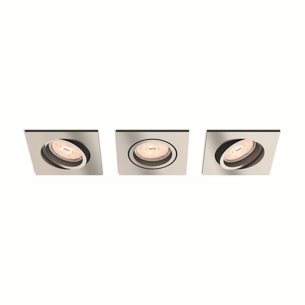 Set bodových podhledových svítidel Philips Donegal 50403/17/PN