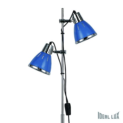 stojací lampa Ideal lux Elvis PT2 042800 2x60W E27 - modrá