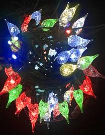 Světelný LED řetěz - barevné šišky 33619