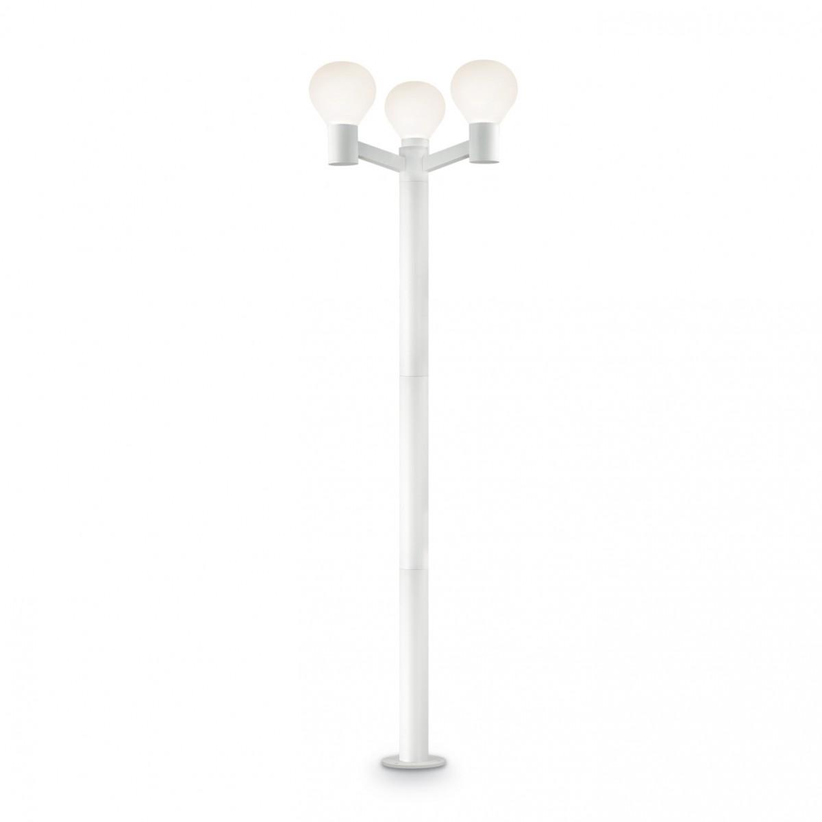 venkovní sloupek Ideal Lux Clio PT3 147130 3x60W E27 - komplexní osvětlení exterieru