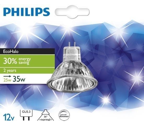 Philips EcoHalo 25W GU5.3 12V 36D 1BC 8 cutcase