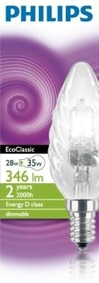 Philips EcoClassic 28W E14 230V BW35 CL 1CT 15