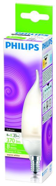 Philips TORNADO E14 8W 865 úsporná žárovka