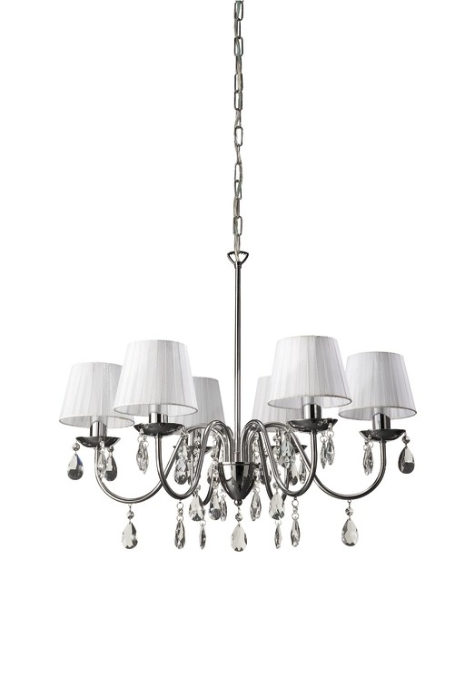 závěsné stropní svítidlo - lustr Philips Massive 37315/11/10 - lesklý chrom