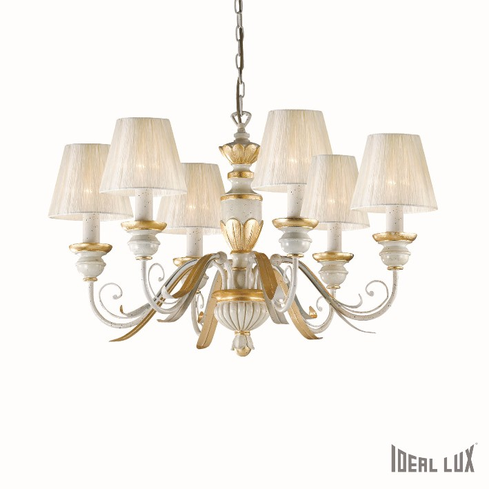 závěsné svítidlo Ideal lux Flora SP6 052663 6x40W E14 - luxusní komplexní osvětlení