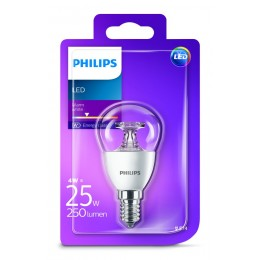 Philips LED 4W / 25W E14 WW P45 CL ND mini kapka lotus