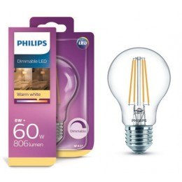 Philips LED Classic 8W / 60W E27 WW A60 CL D