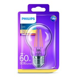 Philips LED Classic 7W / 60W E27 WW A60 CL ND