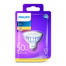 Philips LED 7W / 50W MR16 WW 12V 36D ND bodová