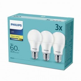 Philips 8718696828199 3x LED žárovka 1x9W|E27|2700K - triple pack