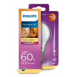 Philips 8718699659769 LED žárovka 1x8,5W | E27 | 2700K