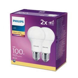 Philips 8718699669430 2x LED žárovka 1x13W|E27|2700K - double pack, EYECOMFORT