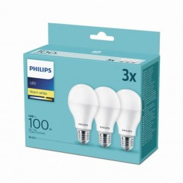 Philips 8718699694920 3x LED žárovka 1x14W|E27|2700K - triple pack