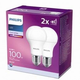 Philips 8718699726959 2x LED žárovka 1x12,5W|E27|4000K - double pack, EYECOMFORT
