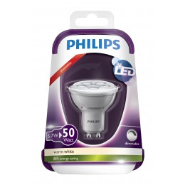 LED žárovka Philips 5,7W (50W) GU10 WW 230V 36D Grey DIM/4, bodová