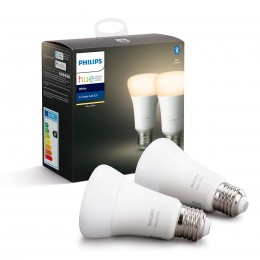 Philips Hue 8718696785270 sada 2x LED žárovka 1x9W|E27|2700K - Bluetooth, White