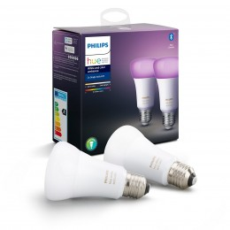 Philips Hue 8718699673284 2x LED žárovka 9,5W|E27 - Bluetooth, White and Color Ambiance