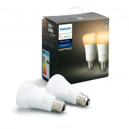 Philips Hue 8718699673369 sada 2x LED žárovka 1x9,5W|E27|2200-6500K - Bluetooth, White Ambiance