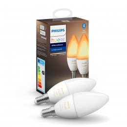 Philips Hue 8719514266902 2x LED žárovka 1x5,2W | E14 | 470 lm | 2200 - 6500K - Bluetooth, White Ambiance