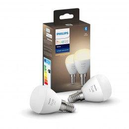 Philips Hue 8719514266902 2x LED žárovka 1x5,5W | E14 | 470lm | 2700K - Bluetooth, White