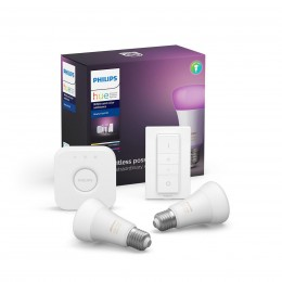 Philips Hue startovací sada Starter Kit 2x9WE27+Switch+Bridge - Bluetooth