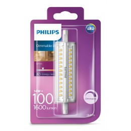 Philips LED 14W / 100W R7S WH D 118mm linear