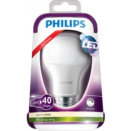 Philips LED 6W / 40W E27 WW 230V A60M FR Dim